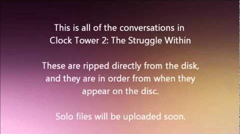 Clock Tower 2 The Struggle Within conversations