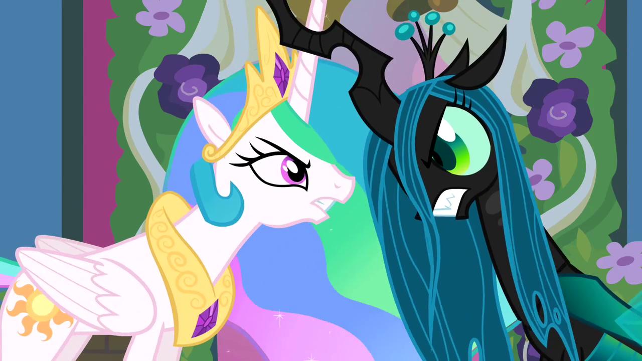 Celestia and chrysalis lock horns s02e26 - Princesse poney ...