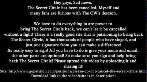 GleeTvdPll/SAVE THE CIRCLE: PETITIONS