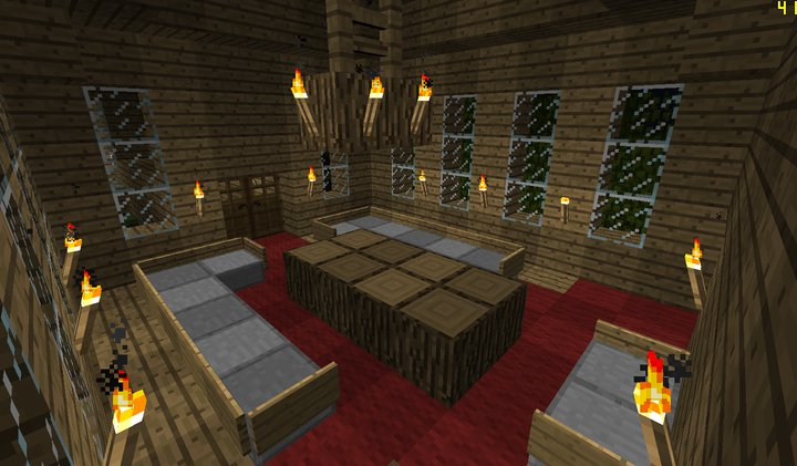 Image living minecraft creations wiki for 10 living room designs minecraft
