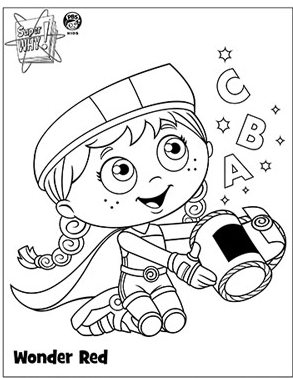 Image Coloring Page Png Super Why Wiki Why Coloring Pages To Print