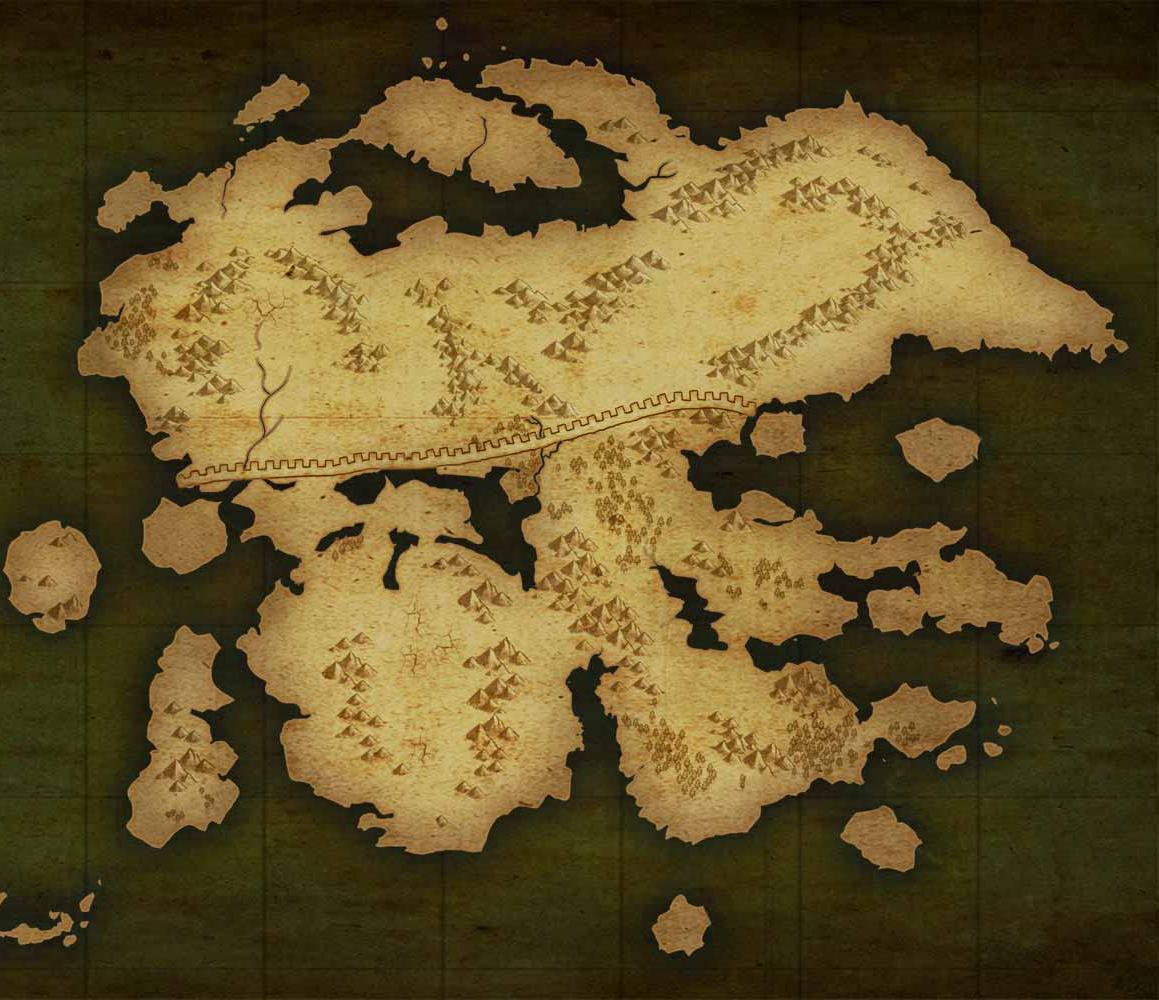 World Map - WORK IN PROGRESS IrisContinentMap