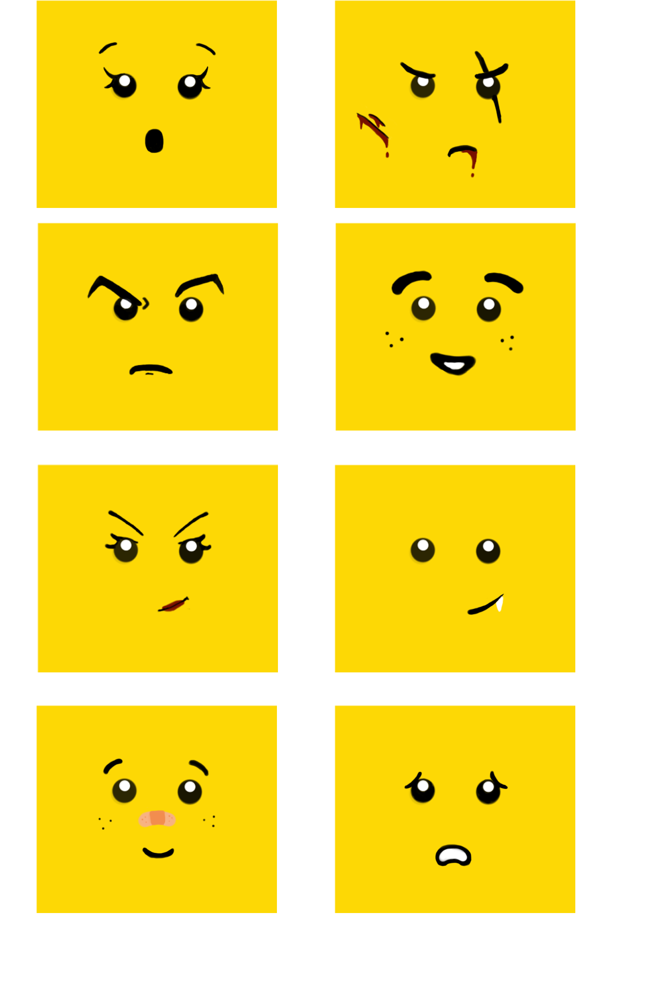 Viewing Gallery For - Lego Face Decal