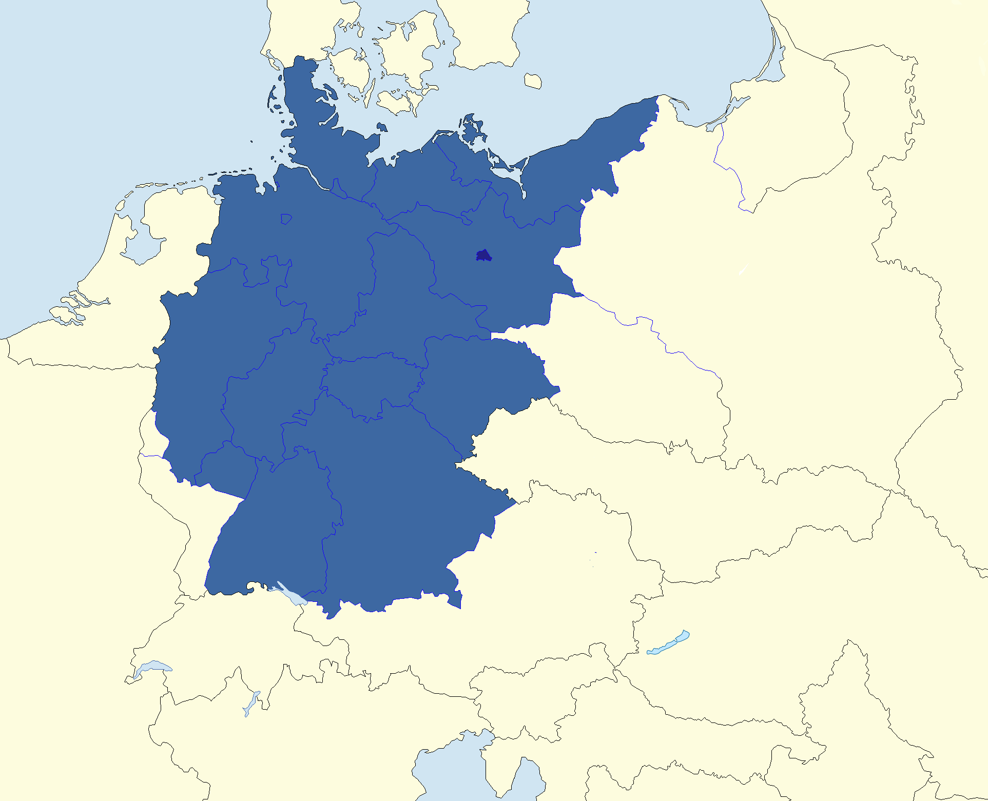 Germany On The Europe Map AnnaMapcom Where Is Germany Where Is