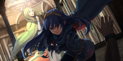 500px-Lucina saving Emerina pngFire Emblem Lucina And Avatar