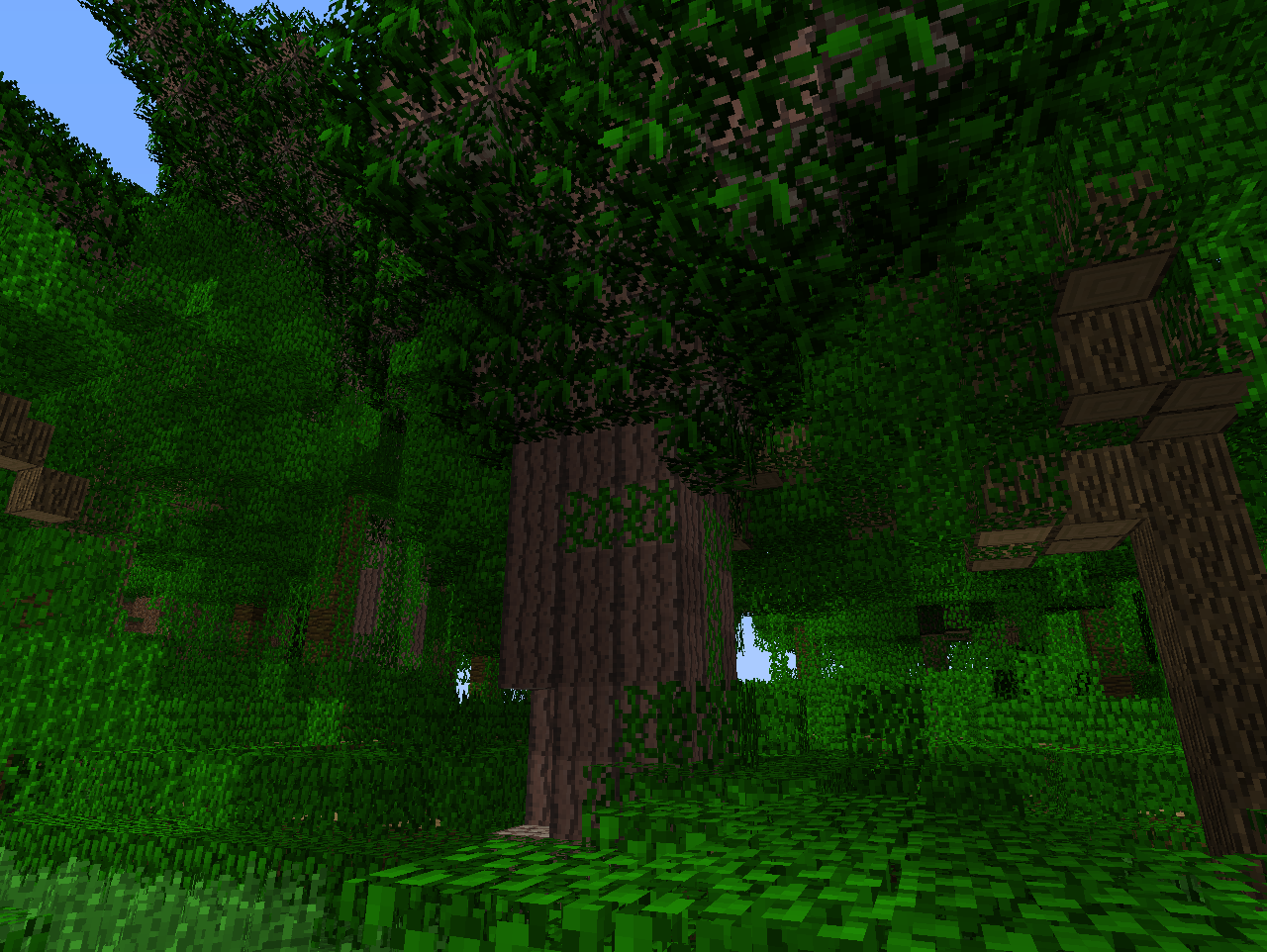 how to grow big jungle trees in minecraft pe
