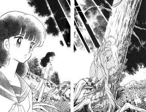 Kagome nhìn thấy Inuyasha manga