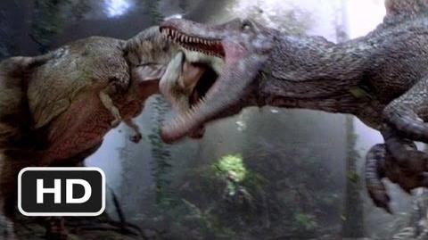 Jurassic Park 3 10) Movie CLIP - Spinosaurus vs. T-Rex (2001) HD