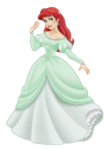 Ariel gown lineup teal