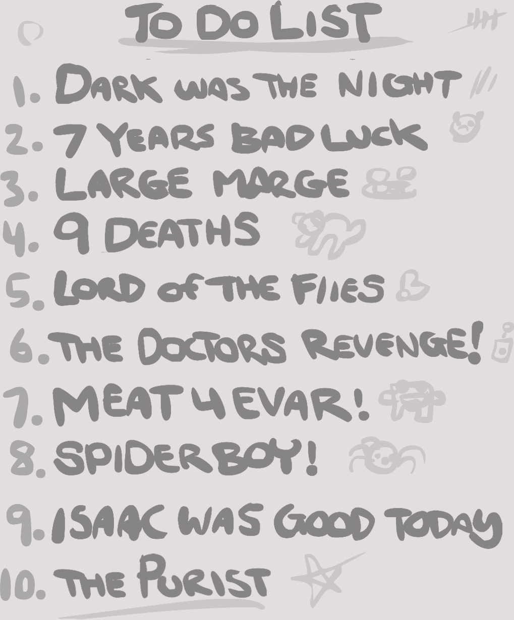 Binding Of Isaac Challenges