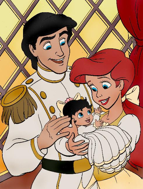 Little Mermaid And Prince Eric Coloring Pages Image - Eric Ariel and...