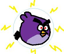 Electronics Consumer Electronics Telephones Mobile Phones iPhone What is the angry bird name that is purple  This bird has  a mask in Angry Birds Space