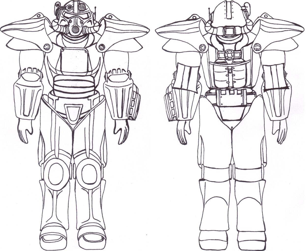 Fallout 3 coloring pages - View larger image image