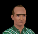 Sims with a unibrow