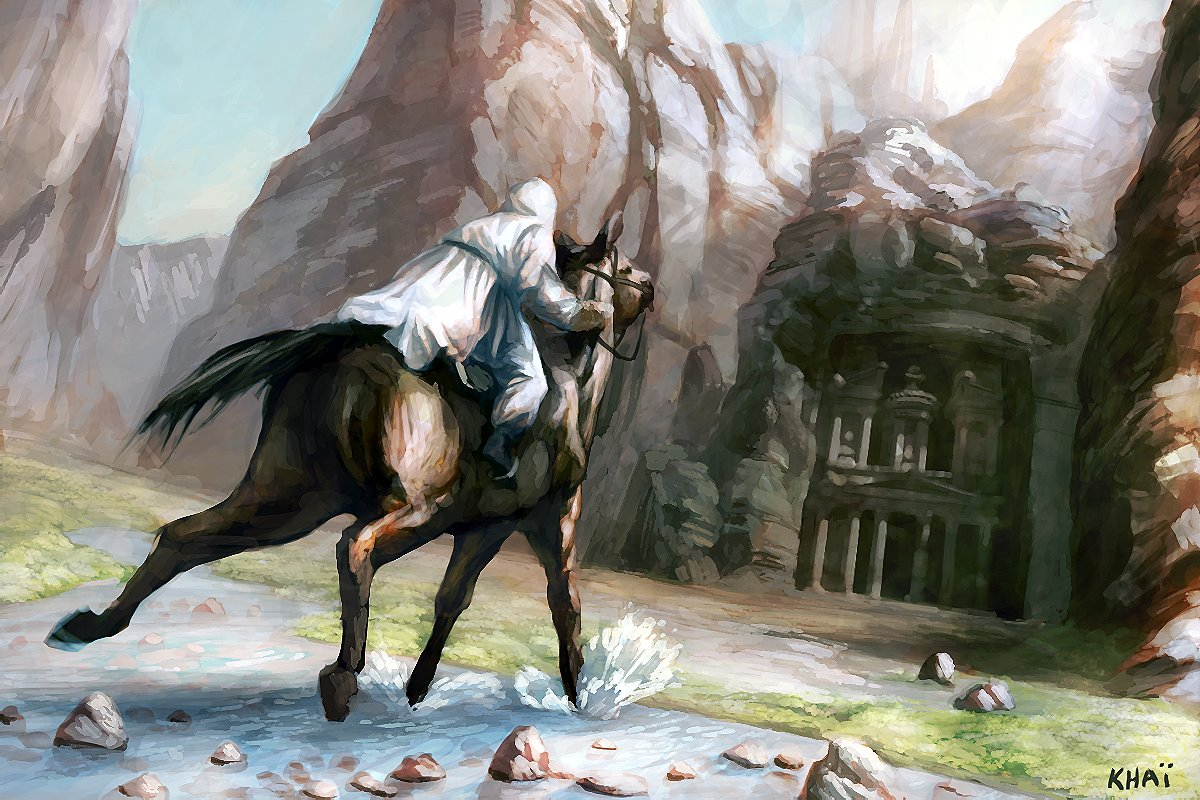 Must see Wallpaper Horse Assassin'S Creed - Assassins-Creed-Early-Concept-Art-Horse-Traveling  Graphic_289864.jpg