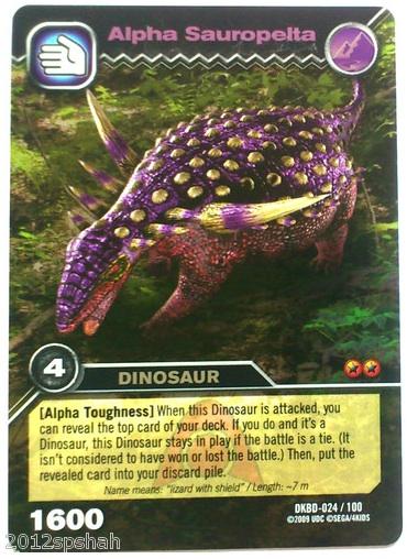 Dinosaur King Megalosaurus Card Sauropelta alpha - dinosaurDinosaur King Megalosaurus Card