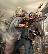 Resident Evil 4 Chainsaw Guy Chainsaw Man - Residen...