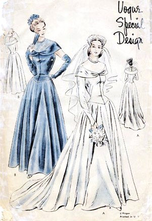 Vogue s 4816 vintage sewing patterns for 1940s wedding dress patterns