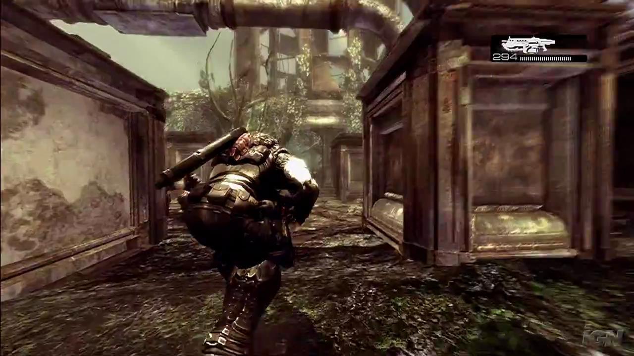 Gears of War Xbox 360 Gameplay - Garden