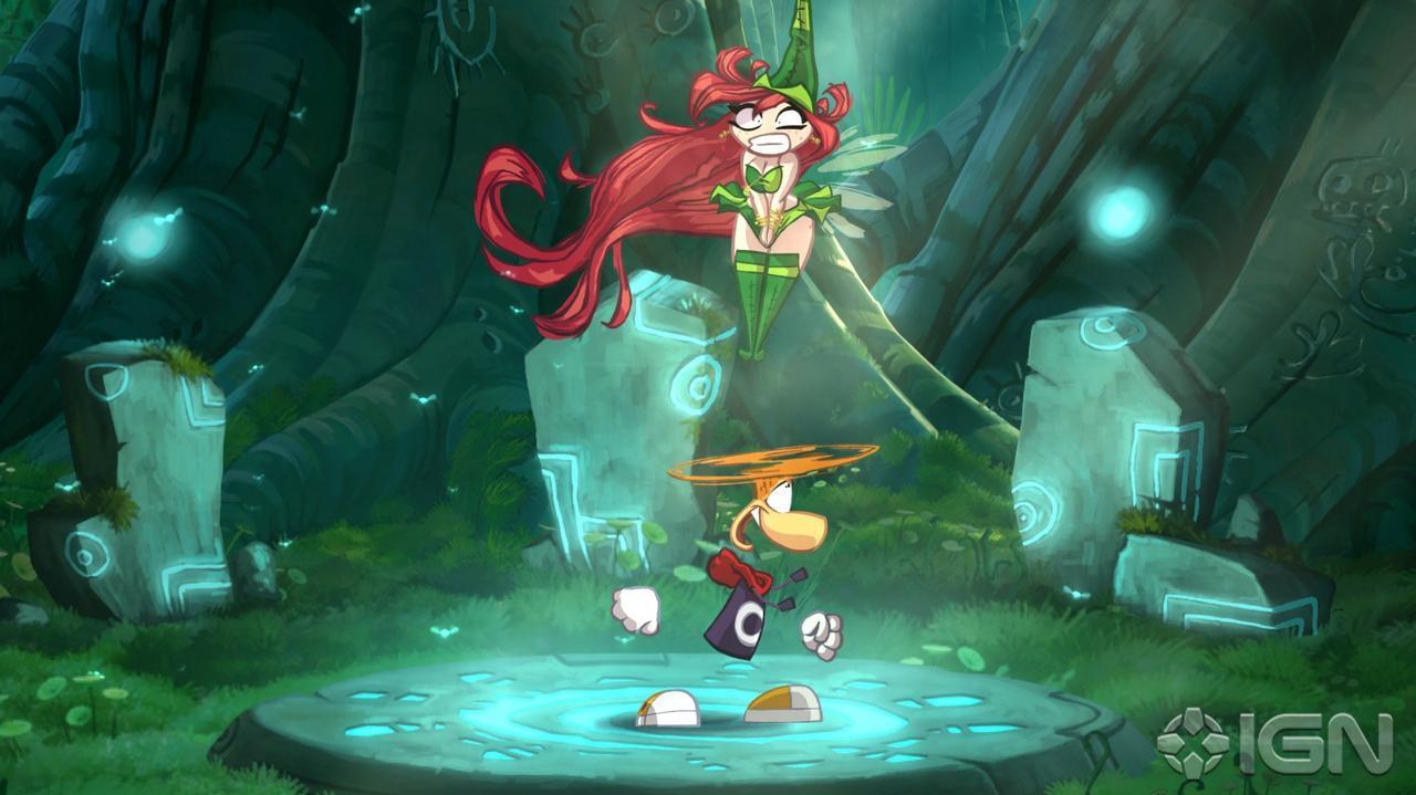 Gamescom Rayman Origins Forest Level (Off-Screen)
