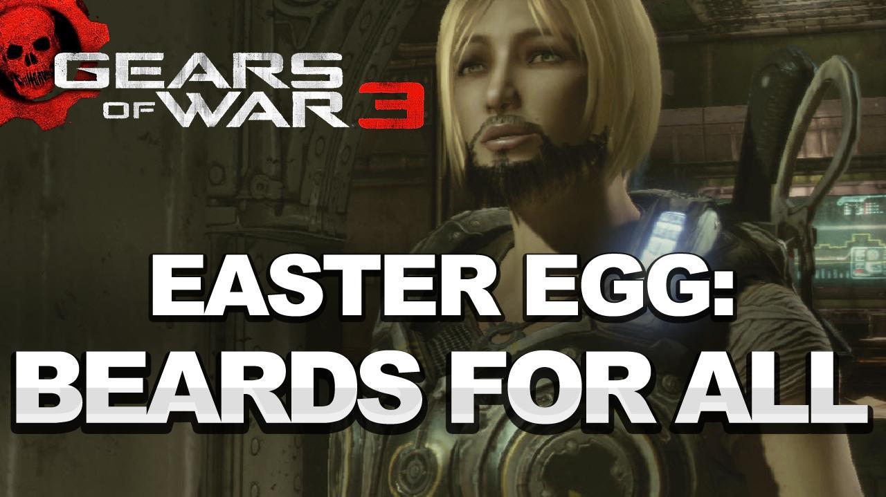 Gears of War 3 Easter Egg Everyone Gets a Beard HD