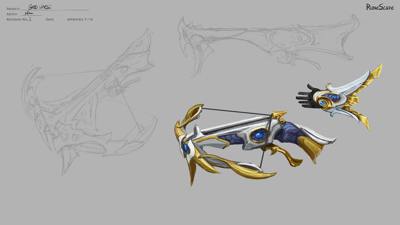 Concept art of the crossbow