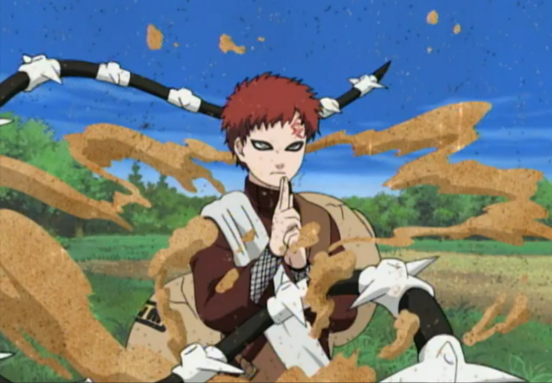 Image - Gaara deflecting Kimimaro's attack.png ... Gaara And Lee Vs Kimimaro Full Fight