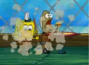 Spongebob dusting in front of Fred.png