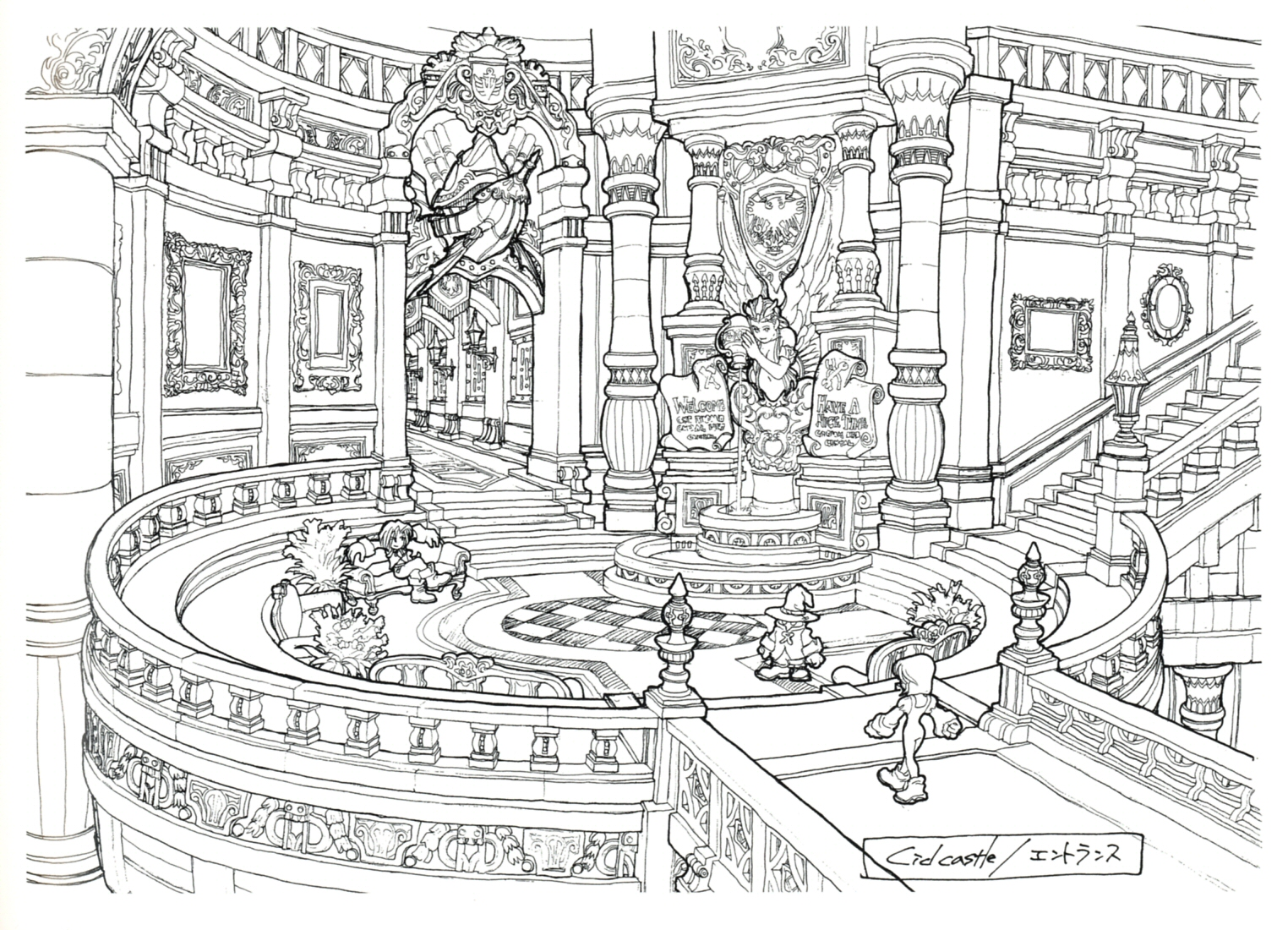 Foyer Layout Generator : Image lindblum castle entrance hallway ff art g the