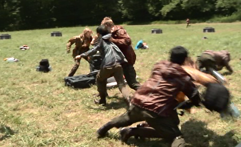 and District 3 female fall, Cato throws District 4 female, Glimmer ...