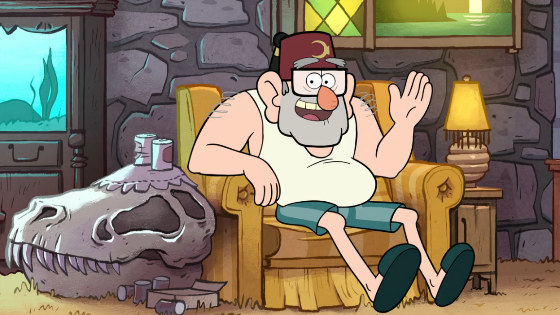 Grunkle stan in his less formal attire