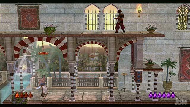 Prince of Persia Classic PlayStation 3 Gameplay - Garden Fight