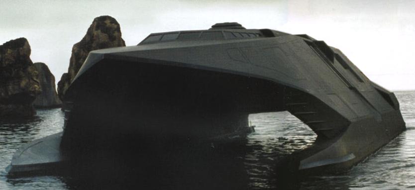 مفهوم الشبحية و تطبيقها في المجال البحري  Stealth_Boat_Model