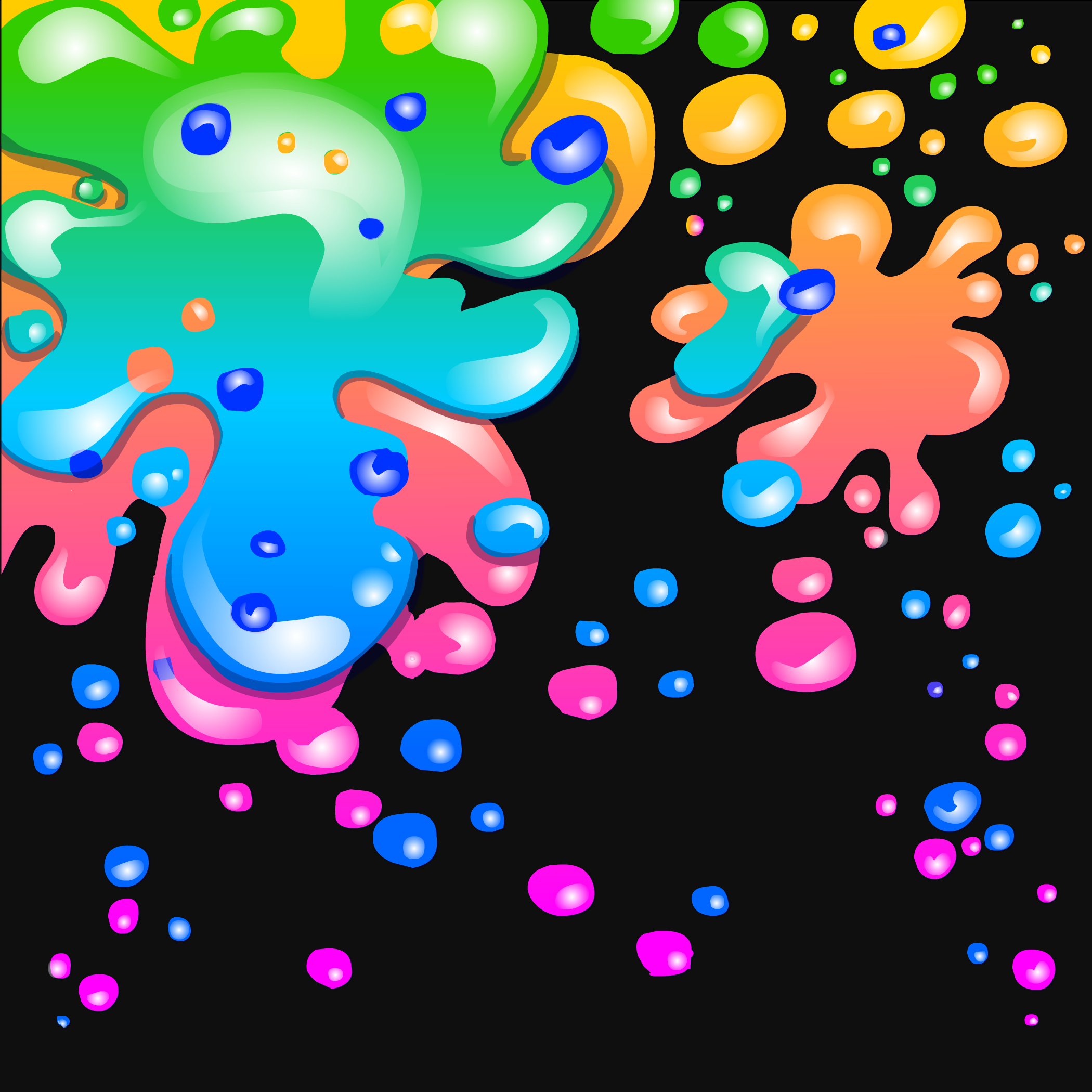 Color Splatter Background Neon Paint Splatter Background