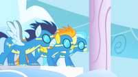 The Wonderbolts ready to rescue S01E16