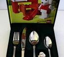 2036210P Food - Cutlery Set, BSF Kinderbesteck mit Paula Pudel