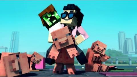 """Minecraft Style"" - A Parody of PSY's Gangnam Style (Music Video)"