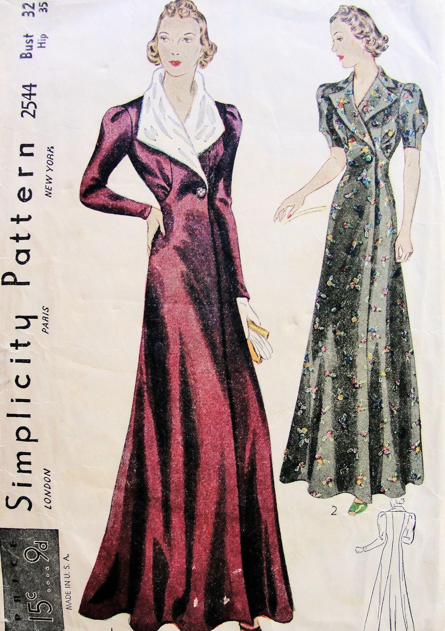 Simplicity 2544 B Vintage Sewing Patterns