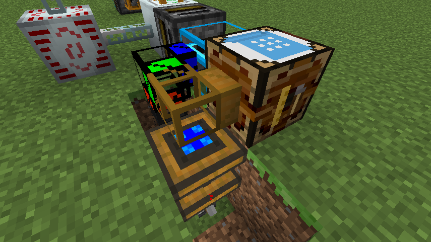 Wooden Pipe On Automatic Crafting Table