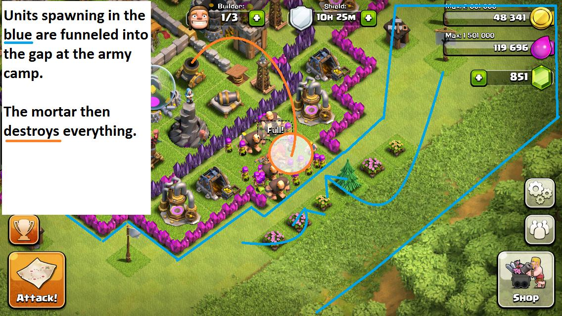 Clash of clans strategy guide] chapter 1: base defense, the basics.