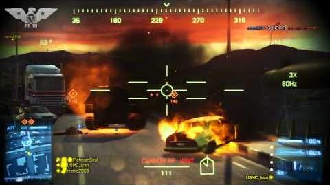 BF3 - AC 130 in Rush? (Bandar Desert Armored Kill Gameplay)