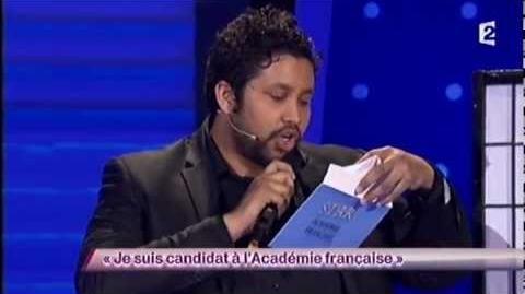 Je suis candidat à l'Académie française