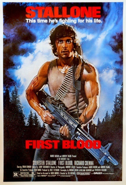 Image - 408px-First blood poster.jpg - Rambo Wiki