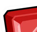 Square Ruby Pin