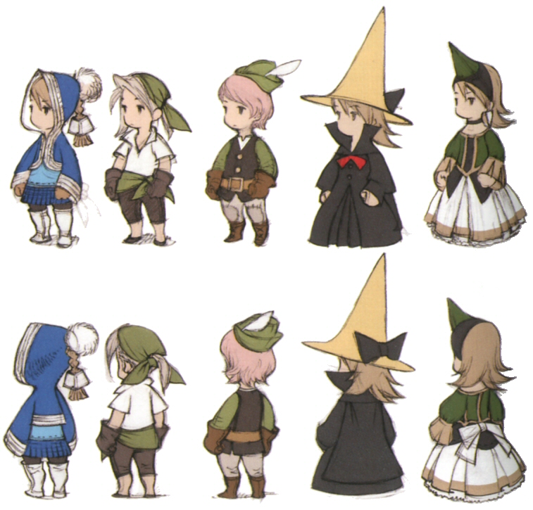 Game Design Character Classes : List of final fantasy iii jobs the wiki