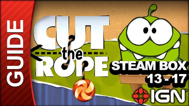 Cut the Rope - Steam Box 3-Star Walkthrough - Level 13-17