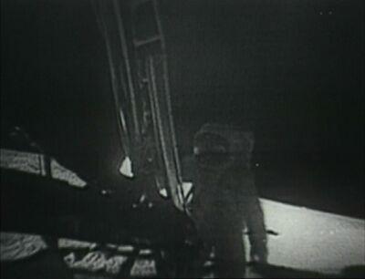 Buzz Aldrin betritt den Mond