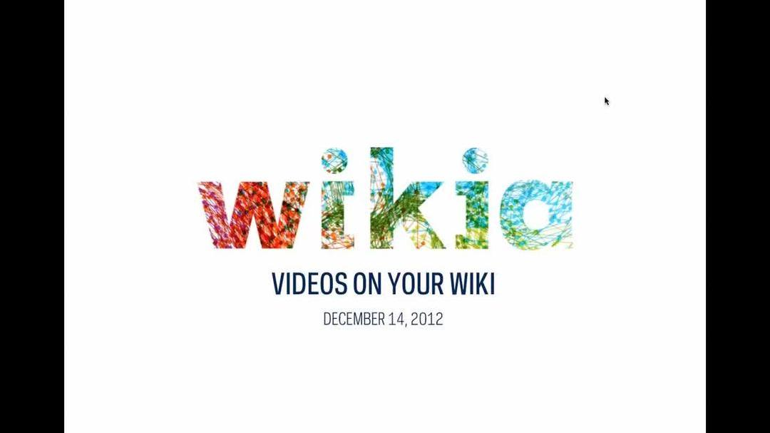 Videos on your wiki
