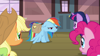"Rainbow Dash ""got the bad news"" S03E12"