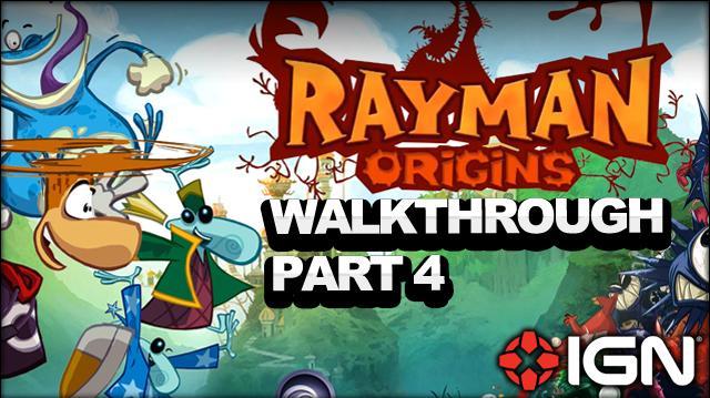 Rayman Origins Walkthrough - Jibberish Jungle Go With the Flow (Part 4)